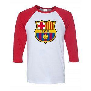 Men's F.C. Barcelona Logo Soccer Baseball Tee